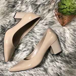 Clarks Artisan Nude Pravana Rose Pumps Block Heel